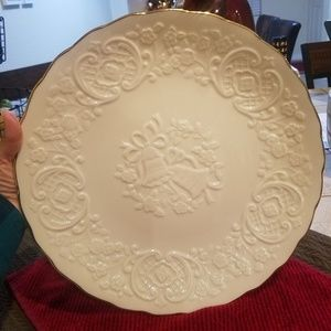 Lenox wedding bell plate cake platter Gold Trim